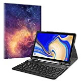 Fintie Keyboard Case for Samsung Galaxy Tab S4 10.5 2018 Model SM-T830/T835/T837, Slim Shell Lightweight Stand Cover with Detachable Wireless Bluetooth Keyboard, Galaxy
