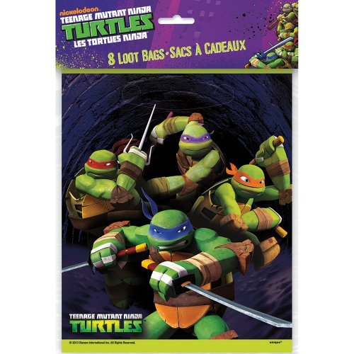 Teenage Mutant Ninja Turtles Favor Bags - Birthday & Theme Party Supplies - 8 per pack -
