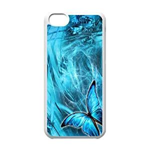 High Quality Phone Back Case Pattern Design 17Colorful Butterfly- For Iphone 5c