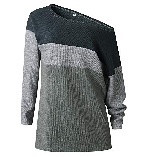 URIBAKE ❤️ Women's Pullover Sweater Skew Collar Autumn Winter Ladies's Elegant Grey Tops Blouse Knitwear from URIBAKE