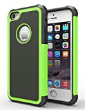 kirby iphone 6 case - iPhone 6/6s Case,Hankuke Hybrid Dual Layer Full Body Shock Proof Protcetive Armor Defender Cover Case for iPhone 6/6S (4.7 inch screen) - black+green