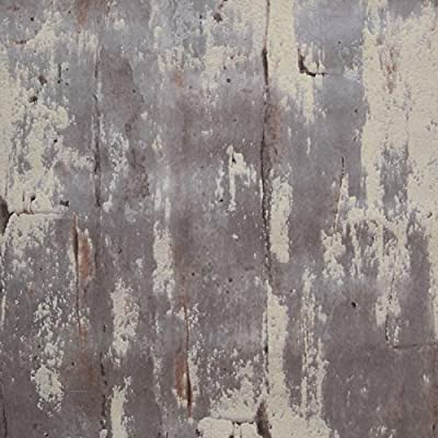 3D Textured Rustic Grey Cement Look Wallpaper (Unpasted) Roll, 20.8 inch x 33 feet