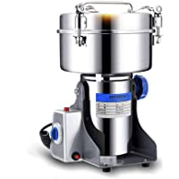 1000G Spice Herb Grinder Commercial Electric Grain Grinder Pulverizer Family Medicial Cereal Grain Mill Machine Coffee Grinder Powder Machine Mill Grinder (1600W)