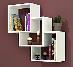 THREE BOX Wall Shelf   White   Bookcase   Book Shelf   Shelving Unit For Living  Room Decoration In Modern Design