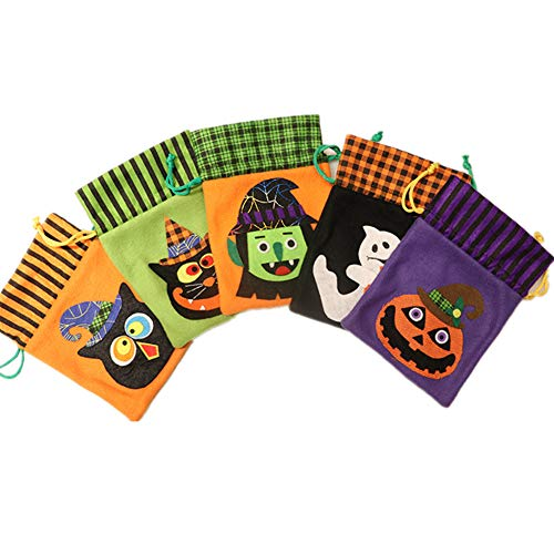 Wionfen Halloween Candy Bags Trick or Treat Strange