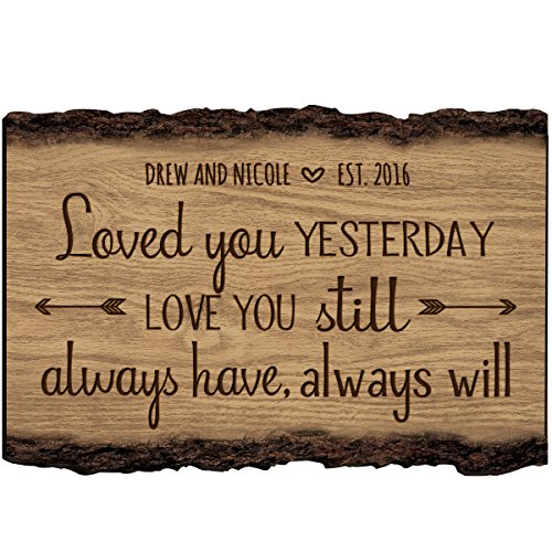 Personalized Family Gift Custom Family Name Sign Engraved with Family Name and Established Date To Remember Loved You Yesterday Love You Still By LifeSong Milestones (Loved You Yesterday)