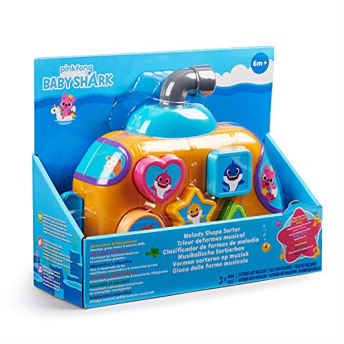 51AFYh4TkYL - WowWee Pinkfong Baby Shark Melody Shape Sorter - Preschool Toy
