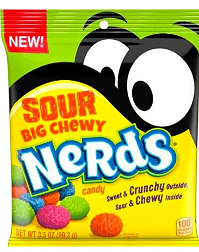 NEW Nerds Sour Big Chewy Perfect Snack For Packed Lunches Sweet & Crunchy Outside, Sour & Chewy Inside Net Wt 3.5Oz (1)