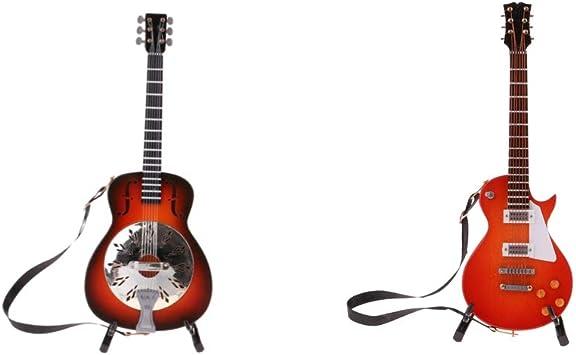 Amazon.es: Injoyo Modelo De Guitarra De Madera Vintage De 2 Piezas ...