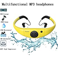Tayogo Waterproof MP3 Player for Swimming Work for 6-8 Hours Underwater 3 Meters, with Shuffle Feature