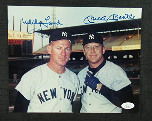 Mickey Mantle Whitey Ford Signed Auto Autograph 8x10 Photo JSA BB04390 ()