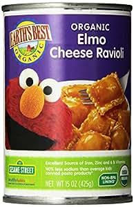 Earth's Best Organic Mini-Meal, Elmo Cheese Ravioli, 15 Ounce (Pack of 12)