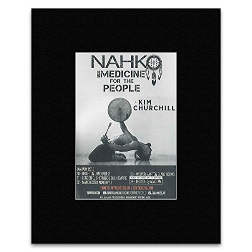Tour Dates Poster (Nahko & The Medicine For The People - January 2016 Tour Dates Matted Mini Poster - 25.4x20.3cm)