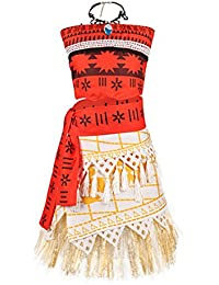 Princess Moana Costume Skirt Set Little Girls Cosplay Dress up