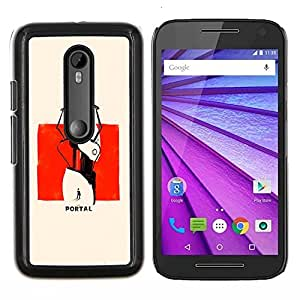 Jordan Colourful Shop - Portal Poster For Motorola Moto G (3rd Gen 2015) Personalizado negro cubierta de la caja de pl????stico
