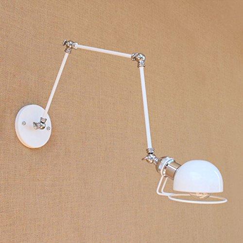 Anbiratlesn Modern E27 Vintage Rustikal Wandlampe für Schlafzimmer Wohnzimmer Korridor Badezimmer Küche Industrial Wind Loft Studie Three-Section Arm Dekoration
