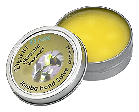 Jojoba Oil Unscented Hand Salve, made from all natural, cold pressed and undeoderized jojoba oil, 2 oz (51 - Salve 2 Oz Cream