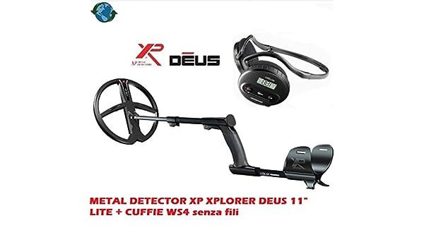 Metal Detector XP Xplorer Deus 11 Lite + auriculares WS4 sin hilos: Amazon.es: Deportes y aire libre