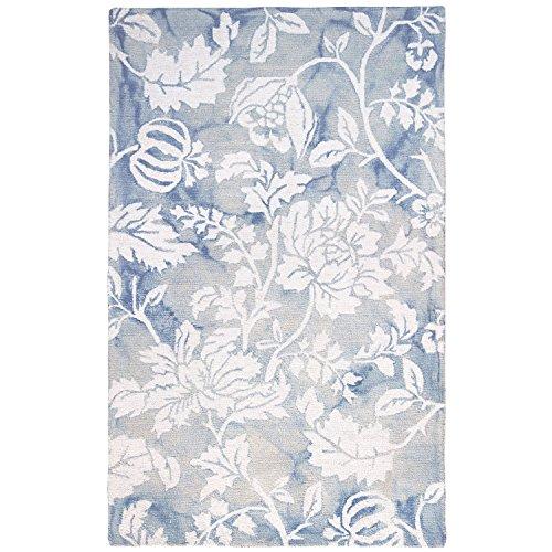 Liora Manne JA258A76703 Dhaka Antique Botanical Rug, 5' x 8', Blue -  76964430026