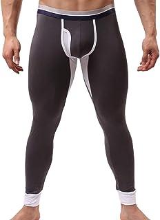 LANSKRLSP di Sport degli Uomini Freddo Secco UX Compressione Media Calzamaglia Baselayer Ghette Pelli Termici Pantaloni di Formazione PRO per Tutta la Stagione