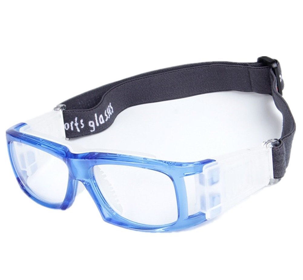 Kagogo Sports Goggles Protective Basketball Glasses Safety Goggles for Adults with Adjustable Strap for Basketball Football Volleyball Hockey Rugby (Blue001)