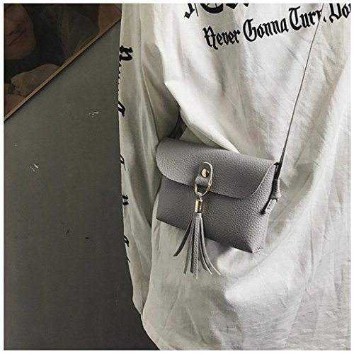 Bag Shoulder Handbag Bag Tassel Shoulder Small Clearance Tote Lady Deals Women Gray TOOPOOT RICwtFHqn