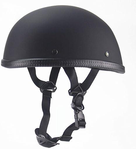 negro brillante Casco de medio casco de casco abierto de casco de protecci/ón para casco de moto para moto de moto scooter