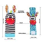 Baby Rattle Neonato Sonagli Calzini da Polso a Sonaglio per Bambini, Simpatici Animaletti Developmental Soft Toys… Abbigliamento Baby Rattle 17