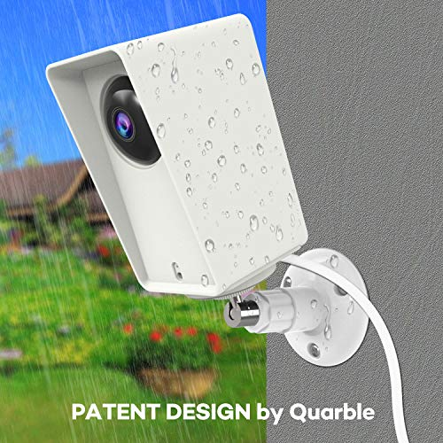 Wall Mount and Protective Case for Wyze Cam Pan, Weather Proof Adjustable for Indoor and Outdoor Anti-Sun Glare and UV Protection Very Easy to Install (White)