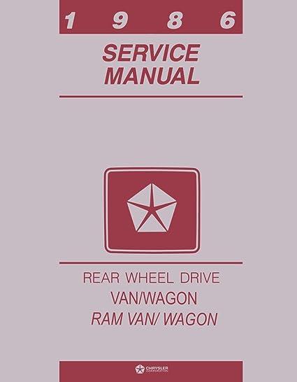1986 Dodge Ram Van Shop Service Repair Manual Engine Drivetrain Electrical Book