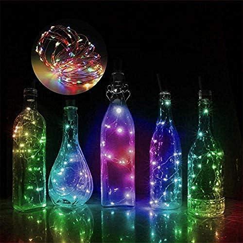 GFSDDS Weihnachtsbeleuchtung Weihnachtskupferdraht Led Schnur Lichterkette Weinkorkenlicht, Wechselbar, 75Cm 15Leds