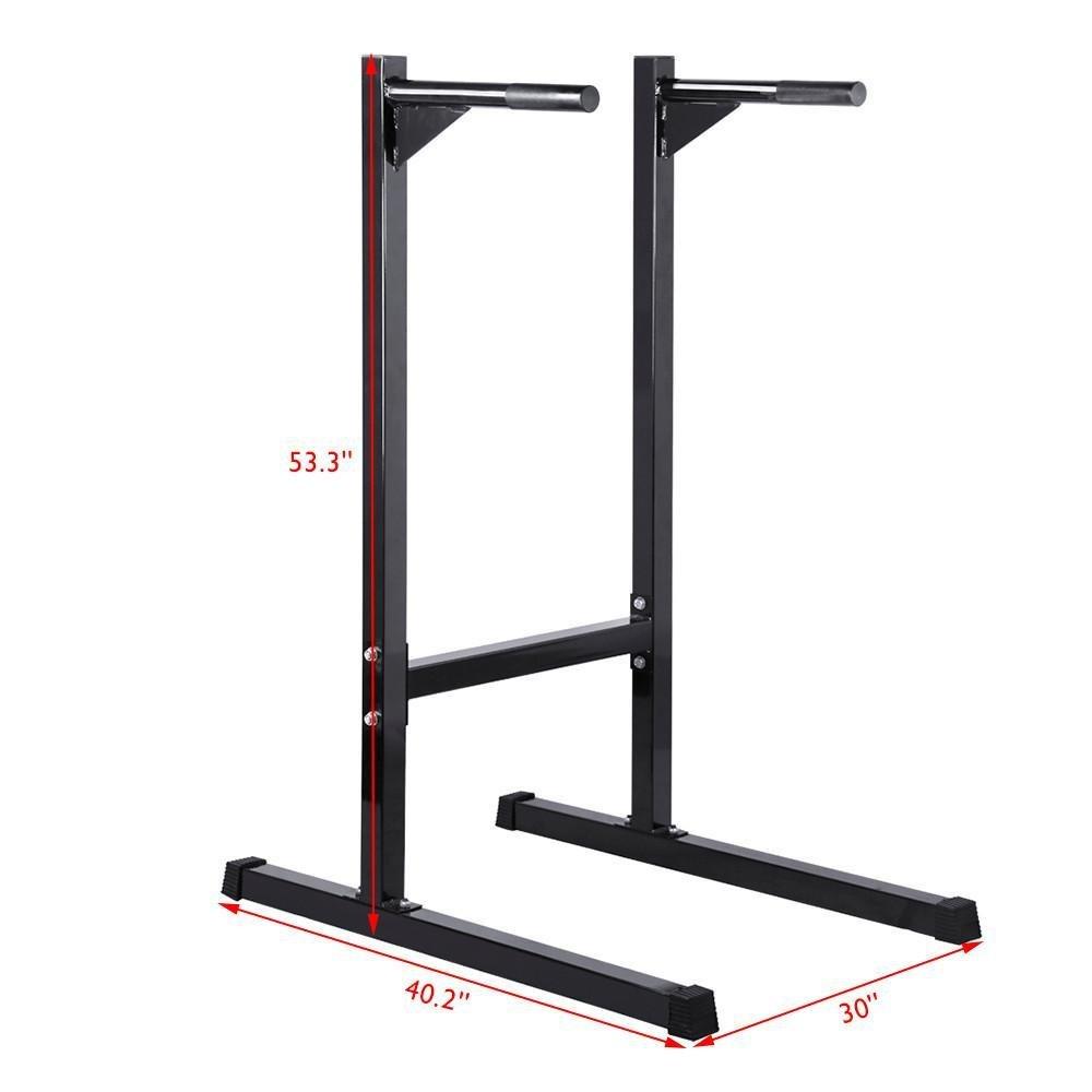 Amazon.com : Yaheetech Dip Stand Workout Dip Bar Gym Dip Machine Power Tower, 500lb Capability : Sports & Outdoors
