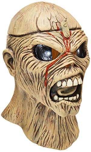 Loftus International Trick or Treat Studios Iron Maidenpiece of Mind Full Head Mask, Beige, One-Size Novelty Item ()