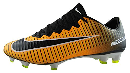Nike Vapor FG Mercurial Soccer Laser XI Men's Cleat Black Orange q6w6rWE4n