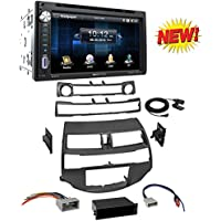 Car Radio Stereo Install Dash Kit Harness Antenna for 2008-2012 Honda Accord With Soundstream VR-651B Double DIN Bluetooth In-Dash DVD/CD/AM/FM Car Stereo