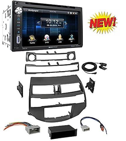 Car Radio Stereo Install Dash Kit Harness Antenna for 2008-2012 Honda Accord With Soundstream VR-651B Double DIN Bluetooth In-Dash DVD/CD/AM/FM Car (Honda Accord Navigation Disc)