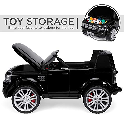 Best Choice Products Kids 12V Licensed Land Rover Ride-On w/ RC, Lights/Sounds, MP3, Black