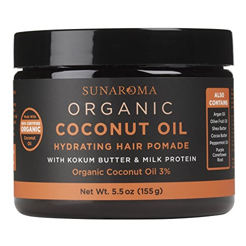 SUNAROMA Organic Coconut Oil Hair Pomade, 5.5 oz.