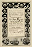 1910 Ad General Electric Gasoline Gasolene Generators - Original Print Ad