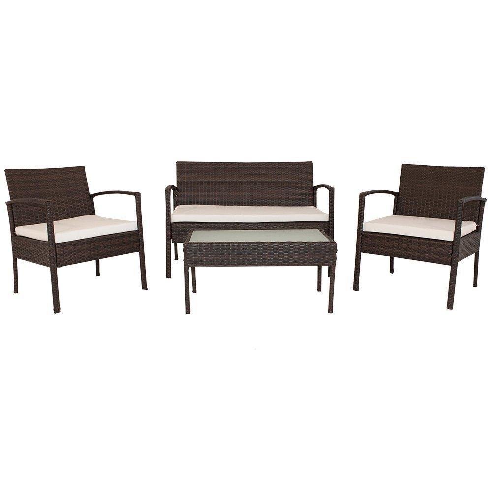 Polyrattan Gartenmöbel Sitzgruppe Trinidad (braun) kaufen