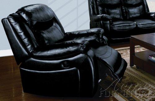 ACME 50095 Moreno Bonded Leather Power Motion Sofa, Black