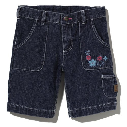 Carhartt Kid's CH9202 Washed Denim Bermuda Short - Girls - 14 Youth - Light Vintage ()
