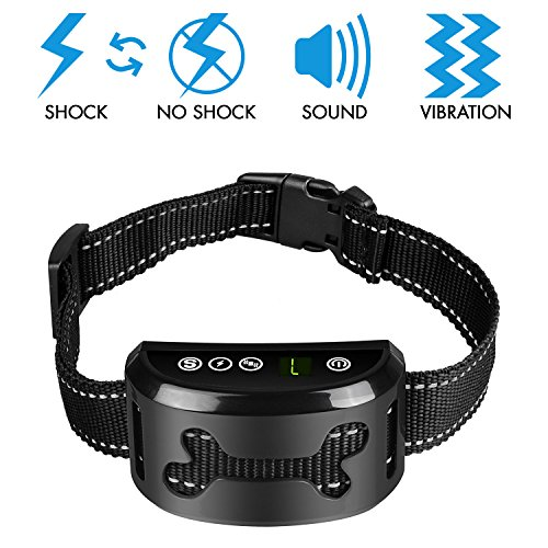 [ 2018 Version ] Dog Bark Collar - Dog Barking Control Devices with Vibration, No Harm Static Shock, Beep Mode to Anti Bark - No Bark Dog Training Collar for Small Medium Large Dog