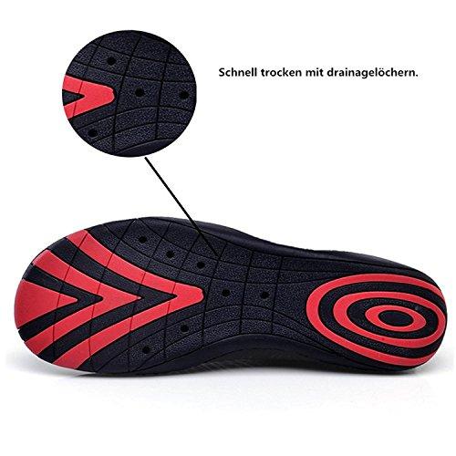 weiß de Zapatos Agua Piscina Soles Rápido Respirable Agua LeKuni Color Secado de Unisex Zapatos de de Natación Calzado Playa de A qRxFEw