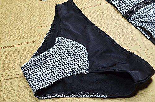 Ropa de Baño Push Up 2 Piezas Bikinis Vintaje de Cremallera sin Aros con Relleno - Flypv Nuevo Diseño del 2017 Verano- Tankinis sin Manga Chaleco para Mujeres