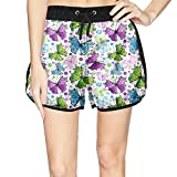 Eoyles The Butterfly Summer Beachwear Quick Dry Beach Shorts for Women Surfing Shorts Shorts