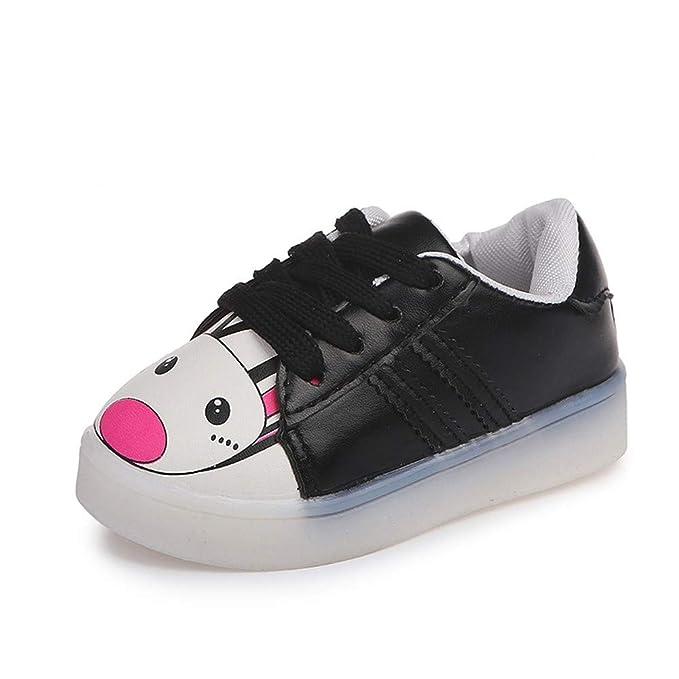 YanHoo Zapatos para niños Los niños bebés niñas niños de Dibujos Animados llevó la Corriendo Deporte Zapatillas Luces Infantiles de Dibujos Animados ...