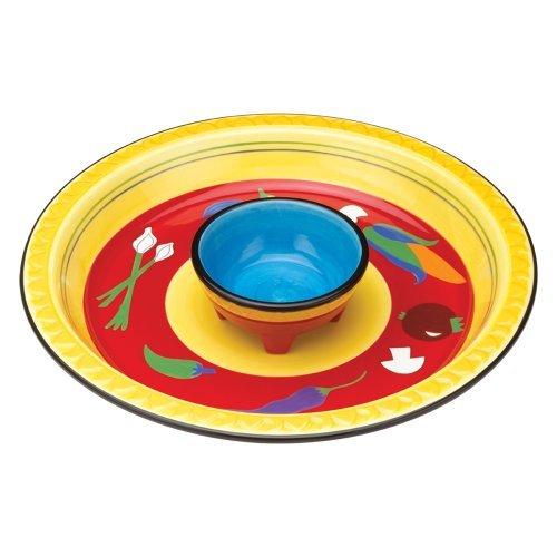 Vasconia 5030306 Ceramic Chip and Dip Set, Assorted