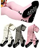 Toptim Baby Girl's Tights Stockings Toddler Non-skid Leggings Pants 3-Pack 6-12 M