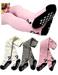 Baby Girl's Tights Stockings Non-skid 3 Pack Toddler Leggings Pants by Toptim